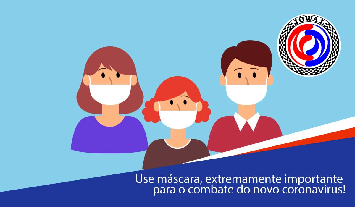 Use máscara, extremamente importante para o combate do novo coronavírus!